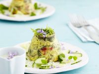 Vegane Kartoffel-Kräuter-Timbale