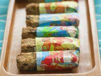 Vegane Müsliriegel mit Kokos und Rosinen