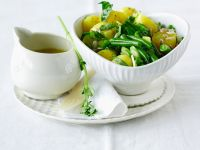 Veganer Kartoffel-Bohnensalat
