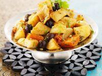 Vegetarische Tajine mit Kartoffeln und Möhren