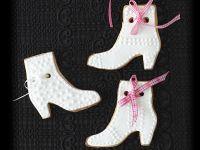 Weiße Stiefel-Plätzchen