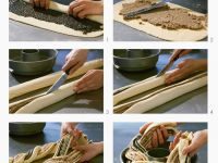 Wickelkuchen mit Mohn-Mandel-Füllung
