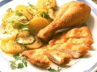 Wiener Backhendl mit Kartoffelsalat