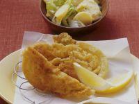 Wirsing-Schnitzel mit Kartoffelsalat