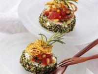 Ziegenkäse mit Tomaten-Bohnensalat
