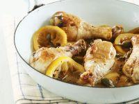 Zitronen-Hähnchen mit Kapern-Soße