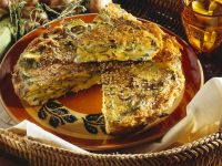 Zucchini-Champignon-Frittata