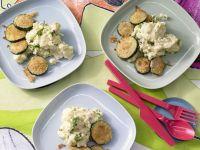 Zucchini mit Polenta
