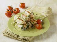 Zucchini-Rouladen mit Caciocavallo