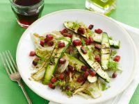 Zucchinisalat mit Speck und Fenchel
