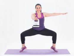 Silke Kayadelen beim Training. © Skandika Fitness