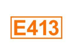 E 413 ein Füllstoff