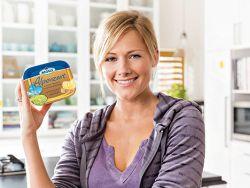 Bekanntes Testimonial: Helene Fischer macht Werbung für Meggle. © MEGGLE