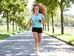 Beim Laufen kann man Energie tanken.