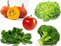 Fünf leckere Obst- und Gemüsesorten