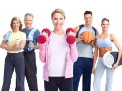 Sportgruppe macht gemeinsam Sport