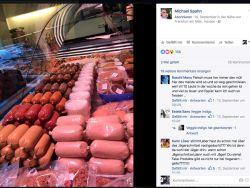 Auslage einer veganen Fleischerei in Frankfurt