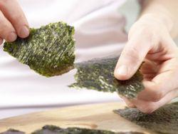 Nori braucht man beim Sushi machen