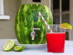 Wassermelonen-Zapfhahn