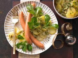 Würstchen mit Kartoffelsalt - Weihnachtsessen ohne Stress