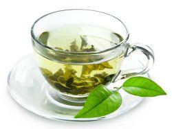 Tasse mit grünem Tee