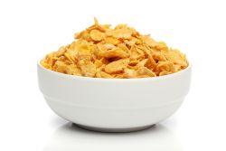 Schüssel mit Cornflakes