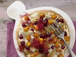 Pizza mit Roter Bete