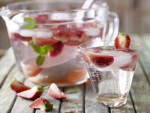 Alkoholfreie Erdbeerbowle