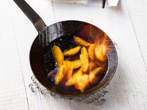 Flambierte Orangen