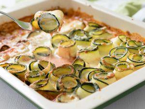 gratinierte Zucchiniröllchen