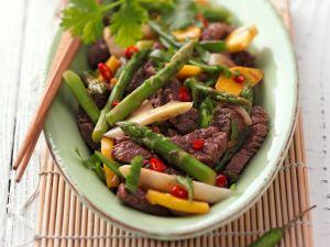Kochbuch für Spargelrezepte mit Fleisch