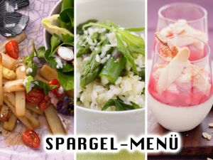 Spargel-Menü