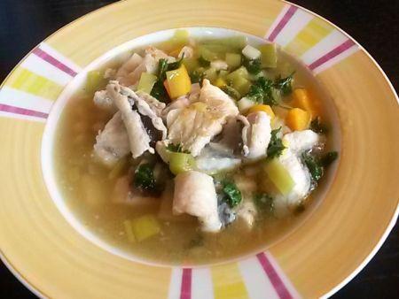 Aal-Gemüse-Suppe