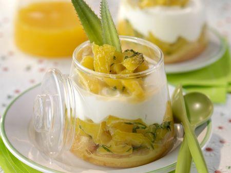 Ananas-Kompott mit Frischkäse