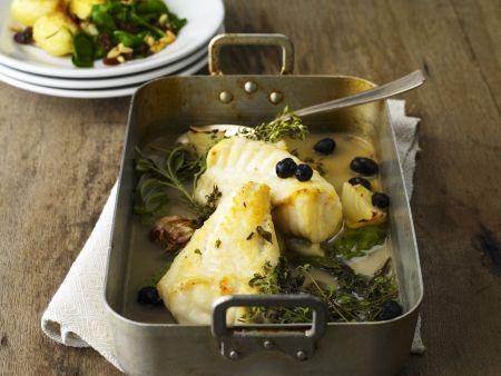 Anglerfisch mit Oliven