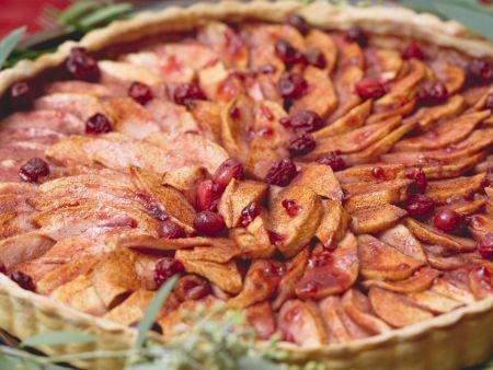 Rezept: Apfel-Cranberry-Tarte