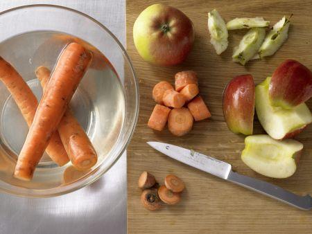 Apfel-Gemüse-Saft: Zubereitungsschritt 1