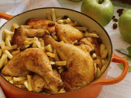 Apfel-Hähnchen-Topf mit Calvados