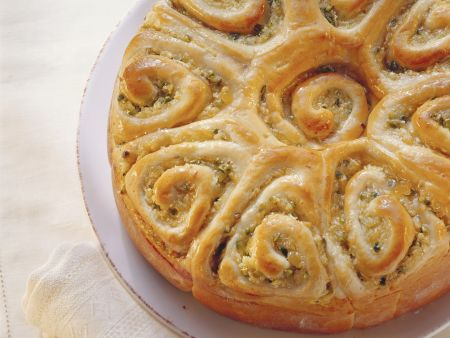 Rezept: Apfel-Ingwer-Rosenkuchen