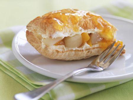 Apfel-Pfirsich-Tasche