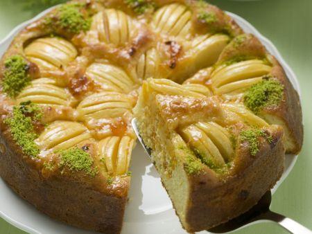 Apfel-Pistazien-Kuchen