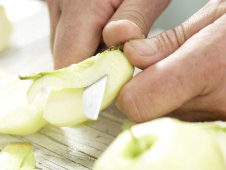 Apfel-Quarkauflauf: Zubereitungsschritt 1
