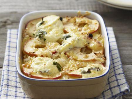 Rezept: Apfel-Sauerkraut-Gratin