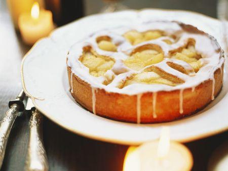 Apfelkuchen mit Glasur