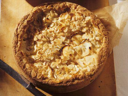 Rezept: Apfelkuchen mit Mandelblättchen