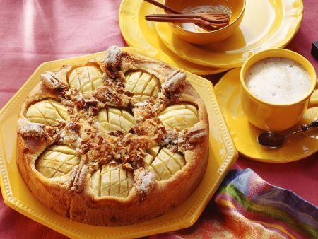 Apfelkuchen mit Pecannüssen