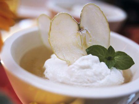 Apfelmostsuppe mit Quarkklößchen