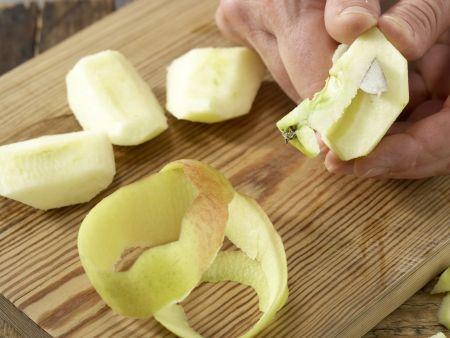 Apfelmus-Brei mit Haferflocken: Zubereitungsschritt 1