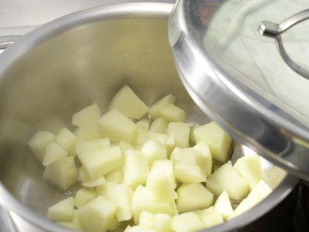 Apfelmus-Brei mit Haferflocken: Zubereitungsschritt 2