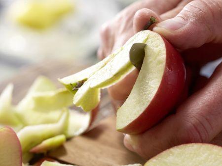 Apfelmus: Zubereitungsschritt 1